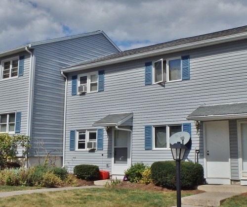 Front photo of the 2 bedroom townhouse for rent at 9 Fredericksburg Court in State College, PA.