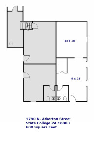 Floor plan for 1790 N. Atherton Street Commercial Space