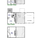 Floor plan for the 3-bedroom duplex for rent at 3050 & 3054 Carnegie Drive in State College, PA