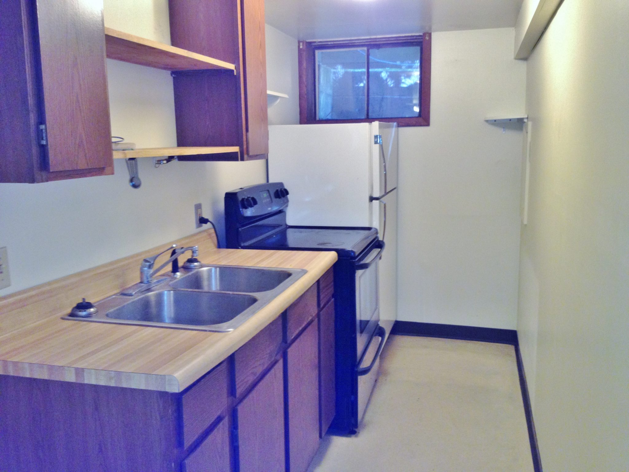 Kitchen photo for the EFFICIENCY apartment for rent at 466-B Martin Terrace, State College PA.