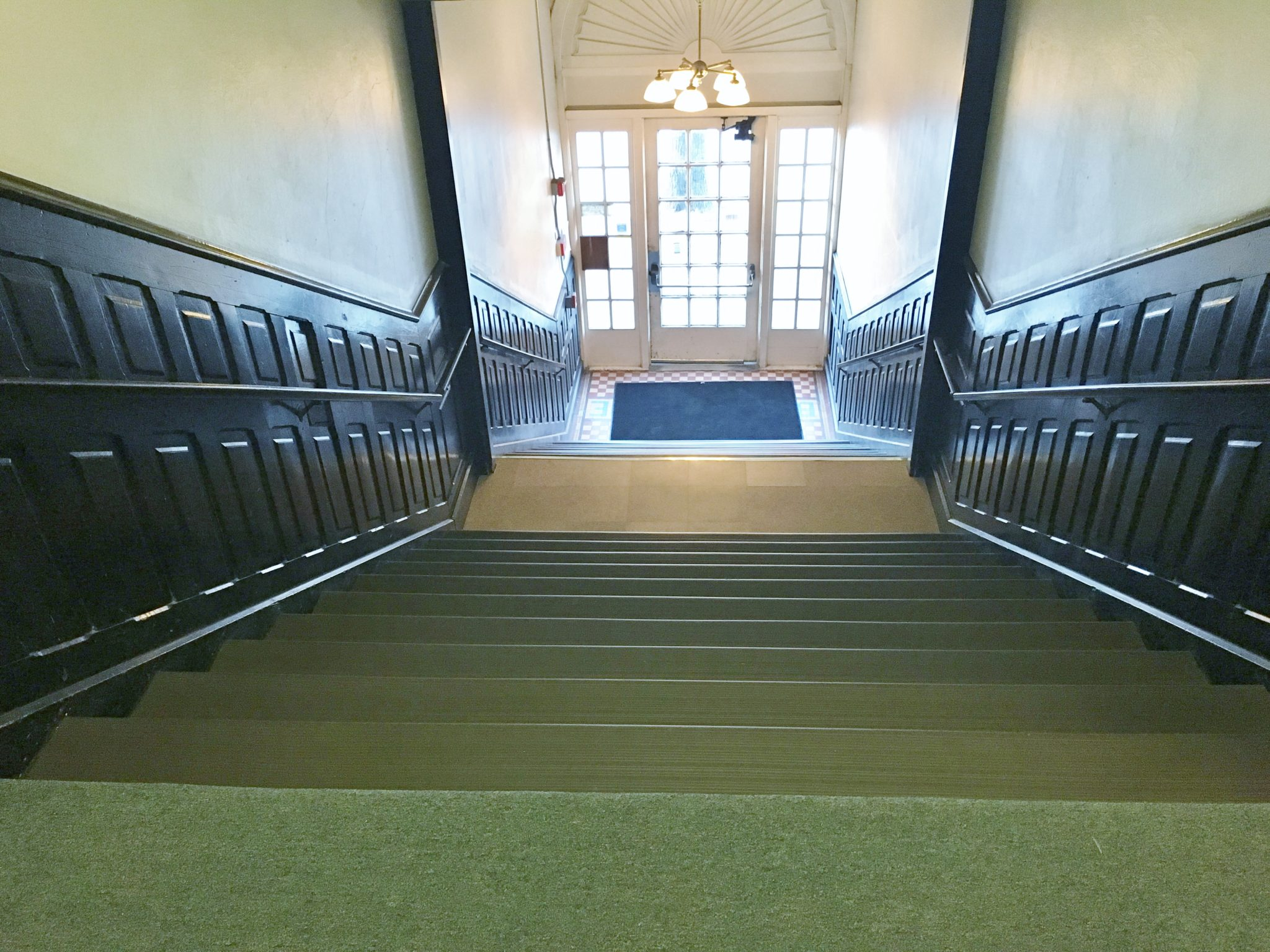 Bush Arcade Building Entry Stairs