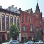 The Bush Arcade Building was built in the 1880s in the Queen Anne Victorian Style.