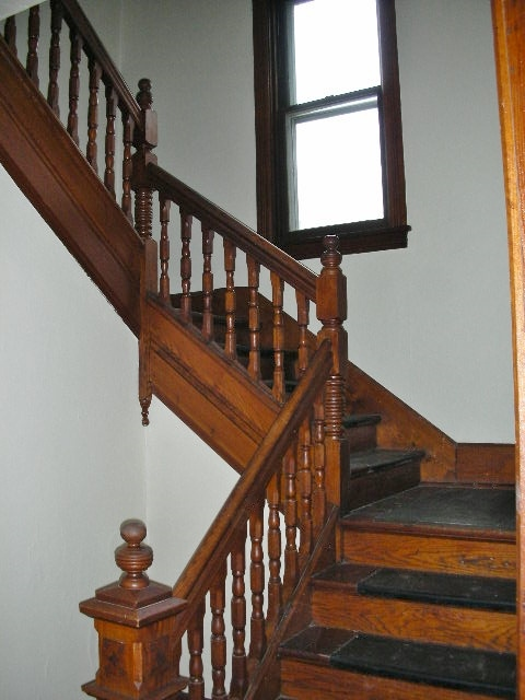 Staircase photo of the non-student rental home at 103 E. Park Avenue.