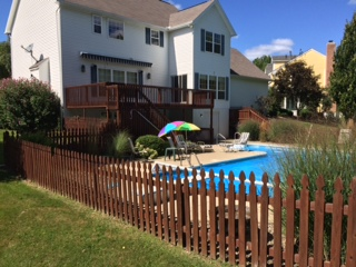 Yard and pool photo at 560 Balmoral Circle, State College PA.