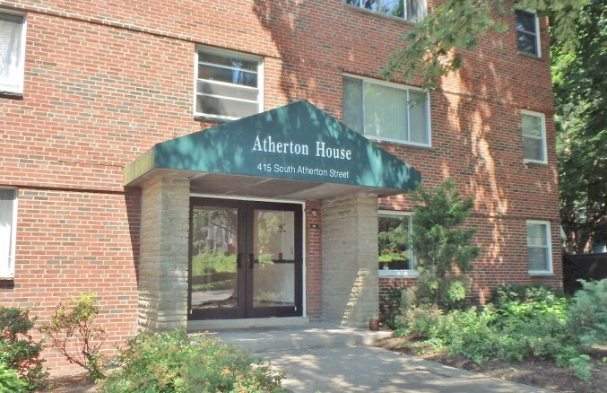 A 1-bedroom student condo for rent in The Atherton House, 415 S. Atherton Street, State College PA.