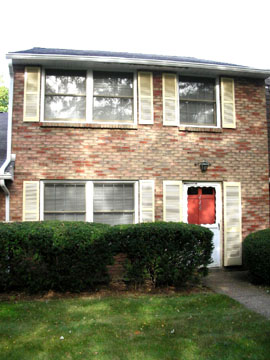 "Front photo of the 3-bedroom ""Georgetown"" townhouse for rent at 448 Amblewood Way in State College, PA."