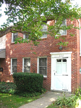 Front photo of the 3-bedroom townhouse for rent at 438 Amblewood Way in State College, PA.