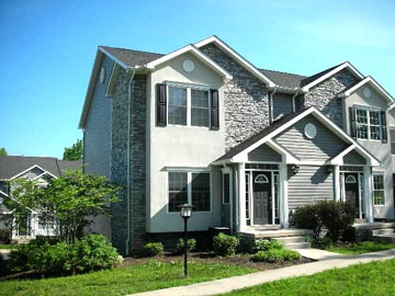 Front photo of the 3-bedroom townhouse for rent at 688-A Oakwood Avenue in State College, PA.
