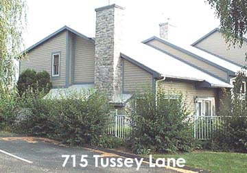 Front photo of the 3-bedroom townhouse for rent at 715 Tussey Lane in State College, PA.