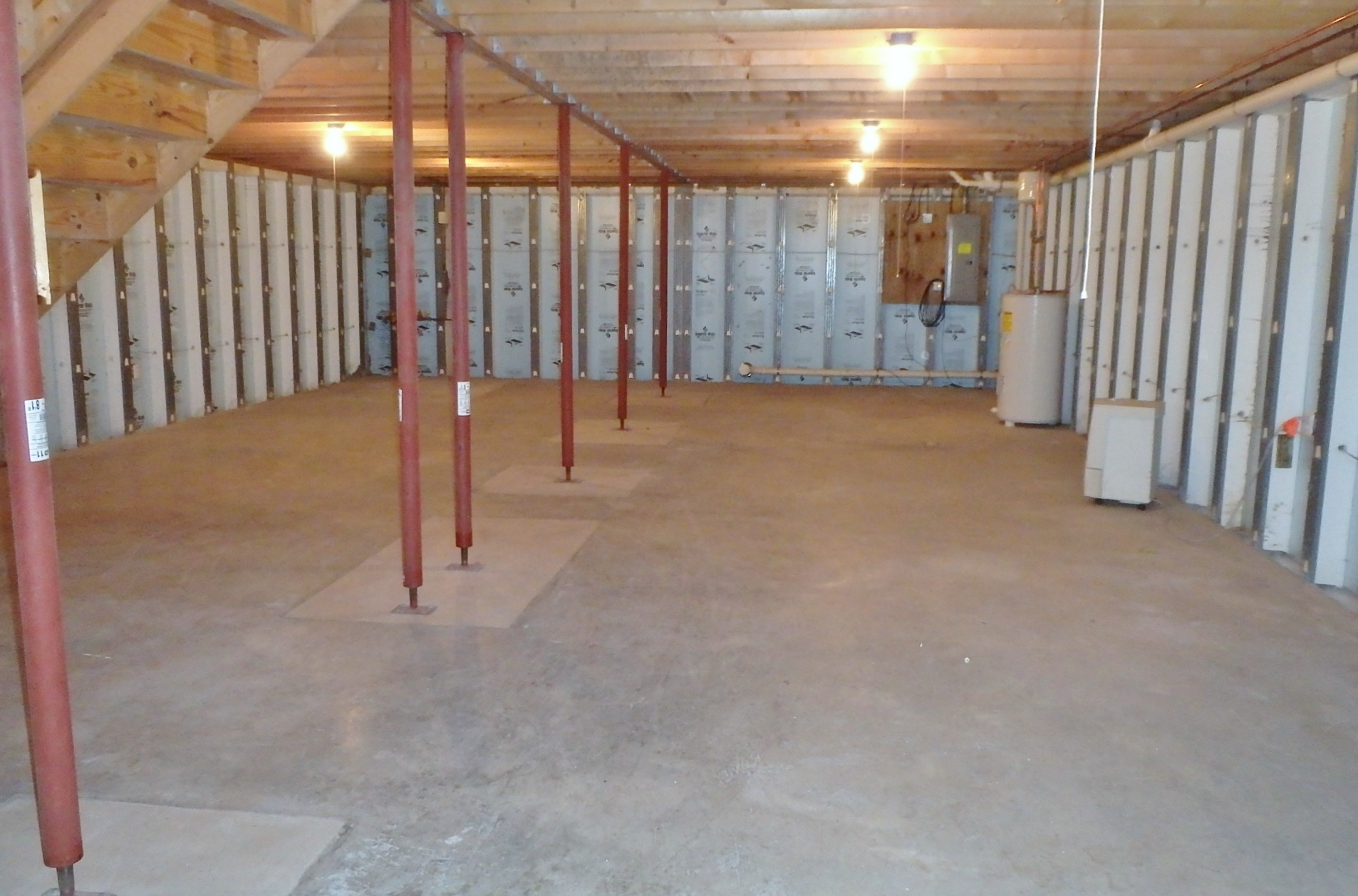 Unfinished basement photo at 261 Ghaner Drive.