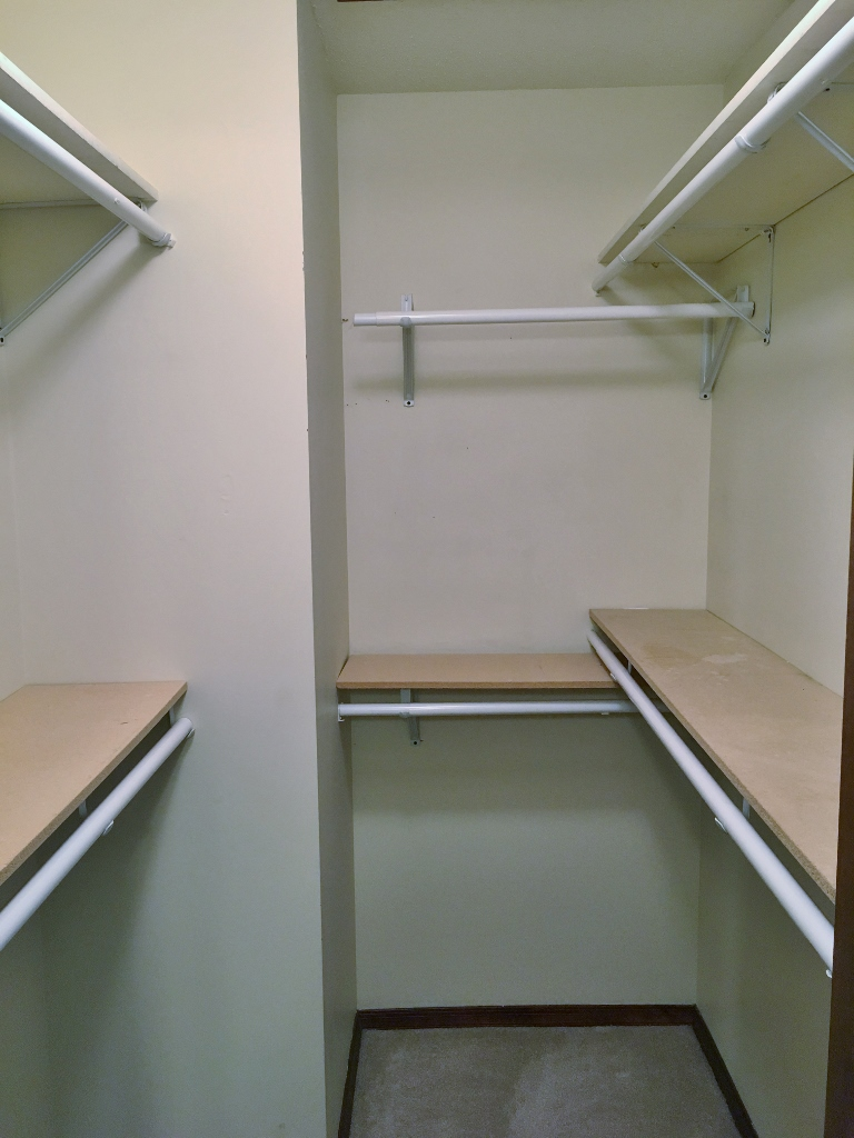 Photo of the walk-in closet at 720 Galen Drive.