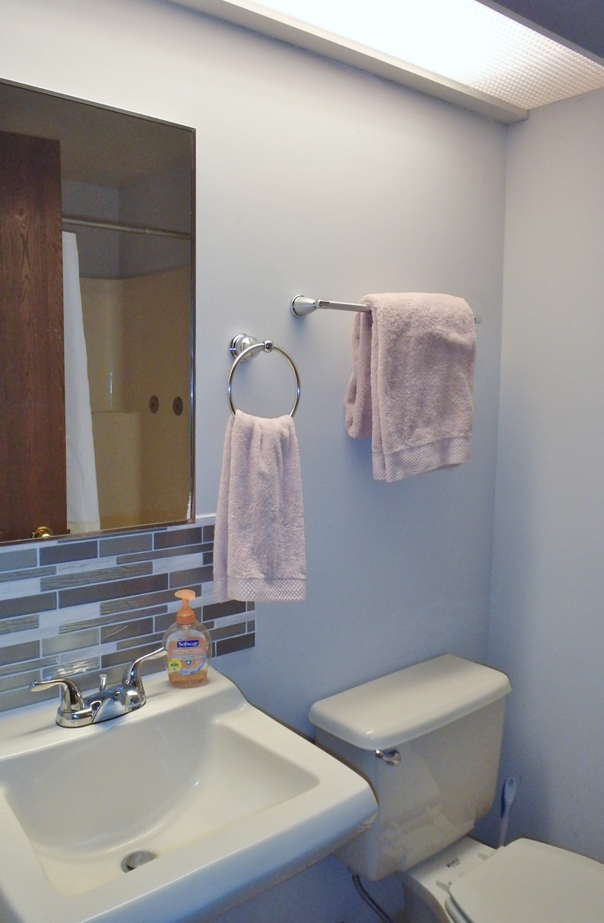 Bathroom with shower at 1606 Blue Course Drive.