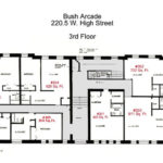 Floor Plans for apartment #301 to #307 at the Bush Arcade Building in Bellefonte PA