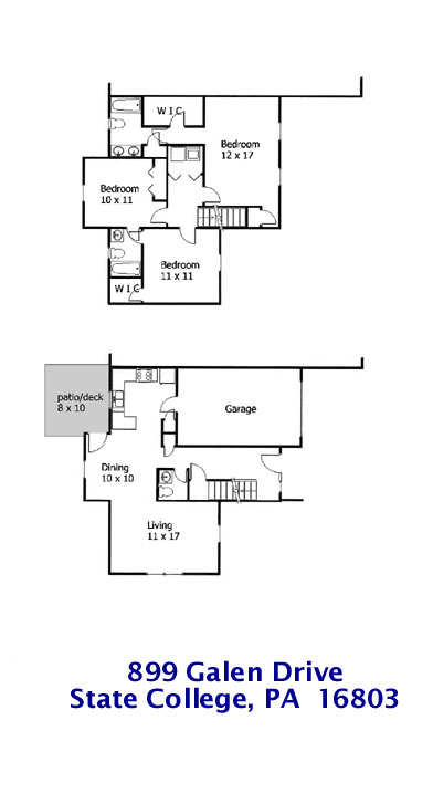 Vista Courts Floor Plan for 899 Galen Drive (only)