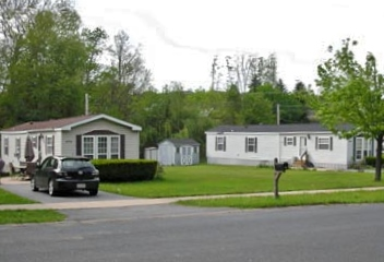 Front photo of 2-bedroom mobile homes for rent at 474 and 480 Douglas Drive, State College PA.