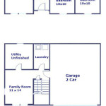 Floor plan of the 3-bedroom house for rent at 103 Driftwood Drive in State College PA