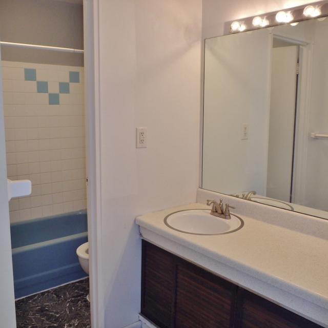 Attached bathroom photo of the 3 bedroom townhouse for rent at 1131-D W. Aaron Drive in State College PA