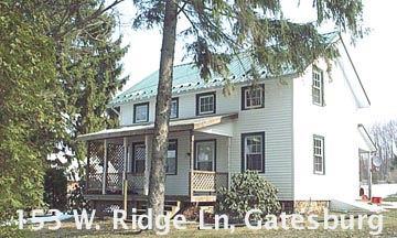 Front photo of the 3-bedroom house for rent at 153 W. Ridge Lane, Warriors Mark PA.