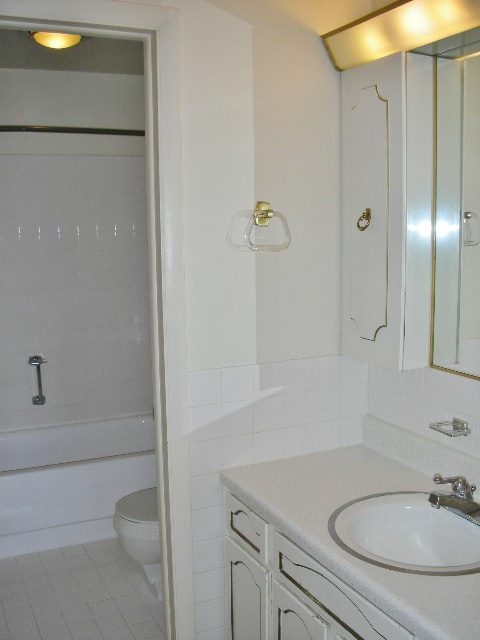 """Bathroom photo of the """"Georgetown"""" townhouse for rent at 432 Amblewood Way."""