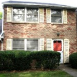 """Front photo of the 3-bedroom """"Georgetown"""" townhouse for rent at 448 Amblewood Way in State College, PA."""