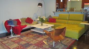 Living room at 688-A Oakwood Avenue, State College.