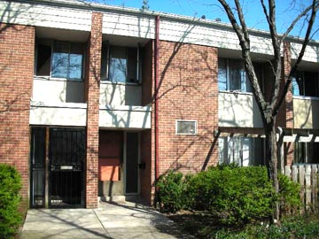 Front photo of the 3-bedroom townhouse for rent at 712-C W. Beaver Avenue in downtown State College, PA.