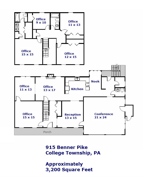 915 Benner Pike Floor Plan